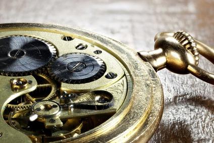 Uhrwerk einer schweizer Taschenuhr aus 585 Gold