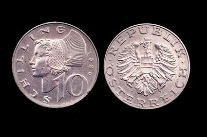 Moneta da 20 scellini austriaci (1980)